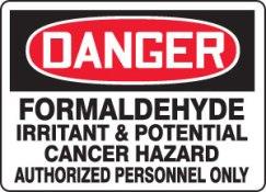Caution Formaldehyde Danger Warning