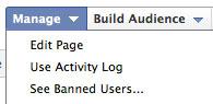 Facebook Admin Panel Edit Page Link