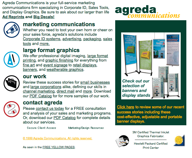 agreda.com October, 2000