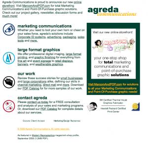 agreda.com September, 2004